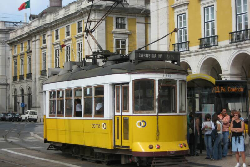 tram, Commerce Square, Lisbon